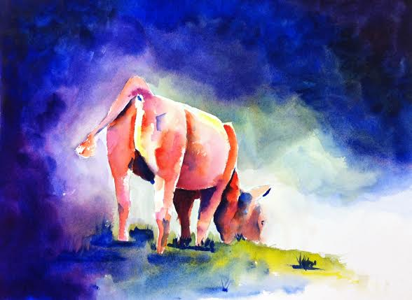 Cow_butt_Watercolor