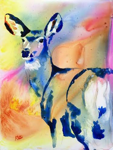 Deer_on_Yupo